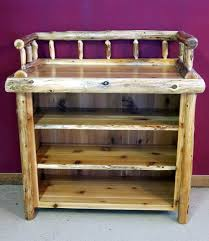 Wood Changing Table Rustic Baby Changing Tables Barn Wood Furniture Rustic