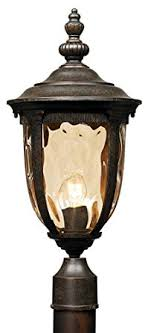 Outdoor L Post Lighting Fixtures Bellagio Collection 21 High Post Mount Light Outdoor Post