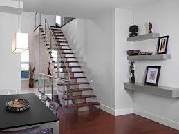 minimalist book area with floating bookshelves idea