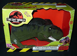 jurassic park car trex amazon com the lost world jurassic park t rex action puppet toys