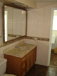elegant picture of cream bathroom decoration using modern mounted