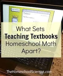 sets teaching textbooks homeschool math apart the homeschool