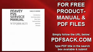 peavey pv6 service manual video dailymotion