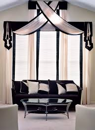 Large Window Curtains Dining Room Decorations Window Treatments Wide Windows Ideas