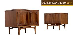 Mid Century Nightstands Pair Of Mid Century Modern Broyhill Commode Nightstands