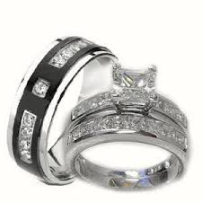 his and hers wedding rings sets his 3 wedding ring set white gold wedding rings