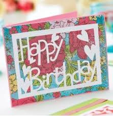 happy birthday love u0026 bird papercutting templates free card