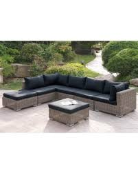 Patio Sectional Sofa Holiday Savings On Poundex Ostroh 7 Piece Patio Sectional Sofa Set