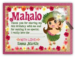 hawaiian hula thank you cards di 222ty harrison greetings