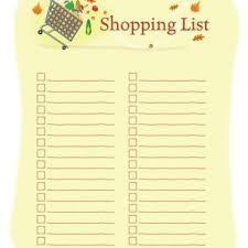 shopping lists template for shopping list u2013 free printable