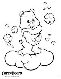 care bear playing sunny coloring pages care bears