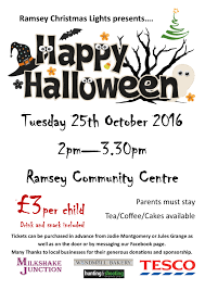 halloween party in aid of ramsey christmas lights ramsey
