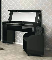 Ikea Vanity Table With Mirror And Bench Vanities Modern Gloss Black Makeup Vanity Table With Bench