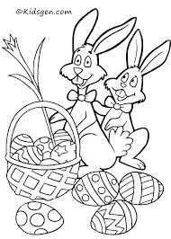easter coloring kids images color