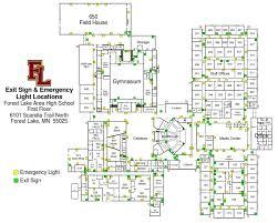 high school floor plans pdf flhs exit sign emergency light locations level 1