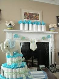 Baby Shower Centerpieces For Boy by Blue And Green Elephant Baby Shower Decorations Elephant Baby