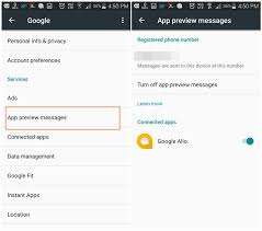 disable app android how to enable or disable app preview messages on android the