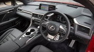 lexus rx black interior 2017 lexus rx 200t f sport interior and exterior youtube