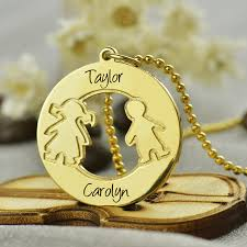 personalized mothers necklace engraved children name necklace personalized mothers necklace gold