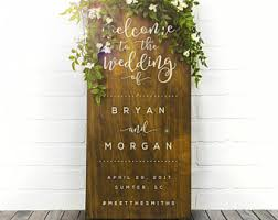 Wooden Wedding Gifts Wood Wedding Sign Etsy