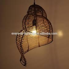 Chandelier With Edison Bulbs Industrial Retro Edison Bulb Chandelier Light Antique Rattan