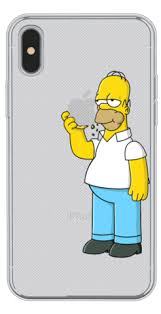 homer simpson buy homer simpson eating apple clear phone cover in india artfrost