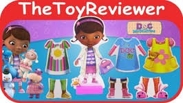 doc mcstuffins wooden doll set with 25 magnet pieces dress up play