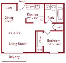 one bedroom floor plans one bedroom metro tower apartments