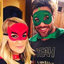 carrie underwood husband and son wear cute superhero masks as