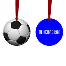 soccer ornaments to personalize soccer ornaments