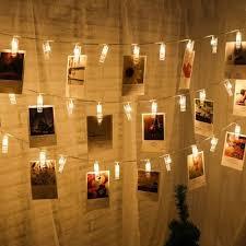 led 20pcs clip light string warm white lights decorative lights