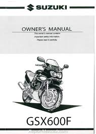 suzuki gsx600f repair manual