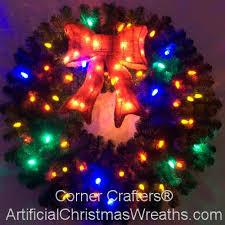 multi colored led christmas lights 3 foot multi color l e d christmas wreath