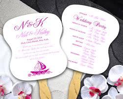 Cheap Wedding Program Fans Wedding Program Fans W Beach Design Double Sided Printing