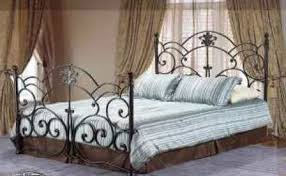 stunning hilda bronze wrought iron queen bed frame traditional