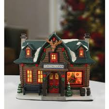 Hunting Decorations For Home by Holiday Time Porcelain Hunting Lodge Christmas Decoration