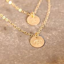 gold monogram initial necklace best gold monogram disc necklace products on wanelo