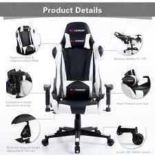 gtforce pro fx reclining sports racing gaming office desk pc car