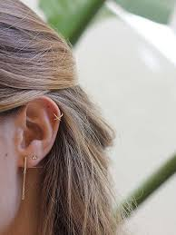 ear earring aran jewels earrings gold x ear cuff earring