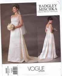 vogue wedding dress patterns vogue pattern 2626 badgley mischka designer wedding gowns sizes 18