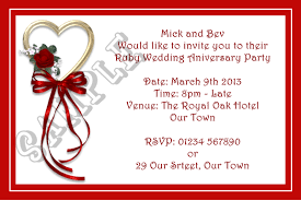 anniversary party plus invitation