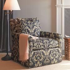 Ikat Ottoman Miranda Swivel Glider Chair Ottoman Blue Ikat Gump S