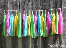 the craft patch weatherproof outdoor tassel garland