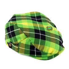 boy kid newsboy flat cap checkered plaid tartan green