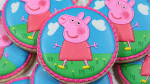 peppa pig decorated sugar cookies youtube 2nd bday oarty