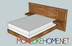 king size headboard with built in nightstands within storage