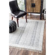Flat Weave Cotton Area Rugs Nuloom Handmade Flatweave Striped Border Cotton Fringe