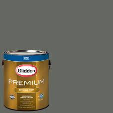 glidden premium 1 gal hdgcn14 distant haze green satin latex
