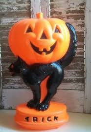 Cat On Pumpkin Blow Mold Made Here In The U S Using An Original