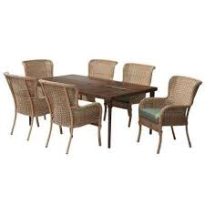 6 Chair Patio Set 6 7 Person Patio Dining Furniture Patio Furniture The Home Depot